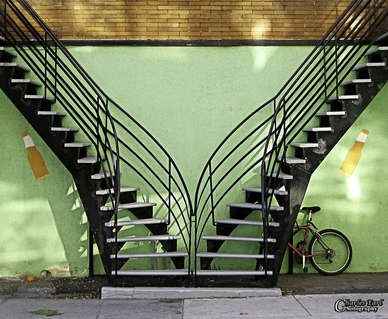 Stairs and a bike
