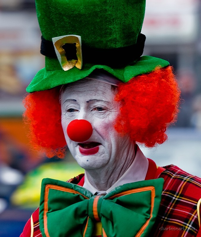 St. Patricks Day Clown